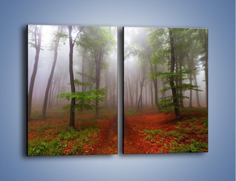 Obraz na płótnie – Budzący się lasek – dwuczęściowy prostokątny pionowy KN1285A