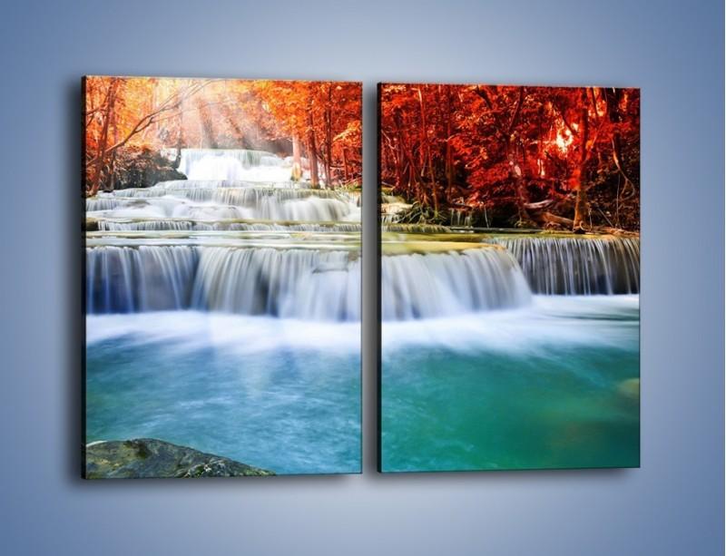 Obraz na płótnie – Jak przyjemnie nad wodą – dwuczęściowy prostokątny pionowy KN1291A