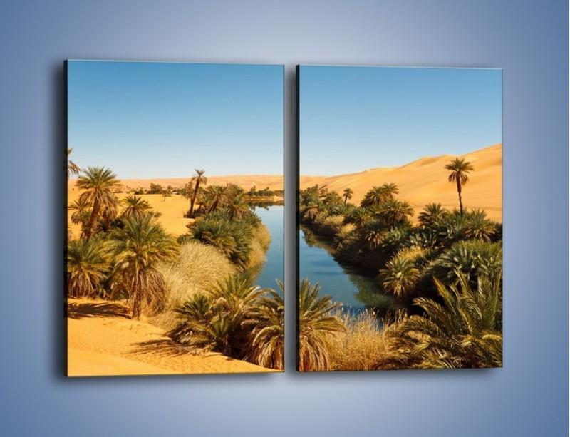 Obraz na płótnie – Woda woda na pustyni – dwuczęściowy prostokątny pionowy KN1294A