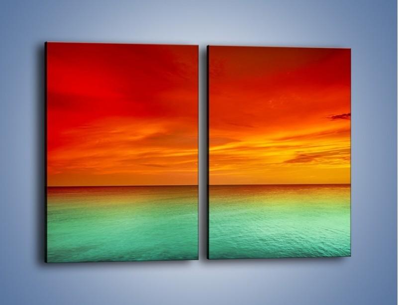 Obraz na płótnie – Horyzont w kolorach tęczy – dwuczęściowy prostokątny pionowy KN1303A