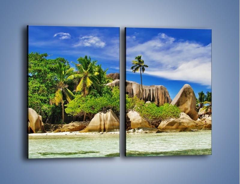 Obraz na płótnie – Tropiki i ich wysokości – dwuczęściowy prostokątny pionowy KN1306A