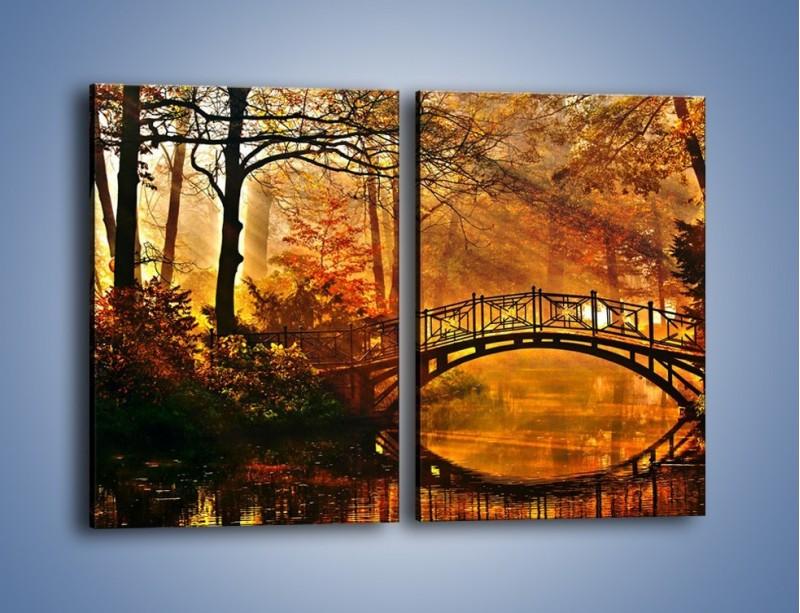 Obraz na płótnie – Cudowny spacer jesienną porą – dwuczęściowy prostokątny pionowy KN1319A