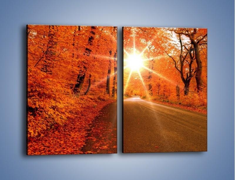 Obraz na płótnie – Droga pełna słońca – dwuczęściowy prostokątny pionowy KN160