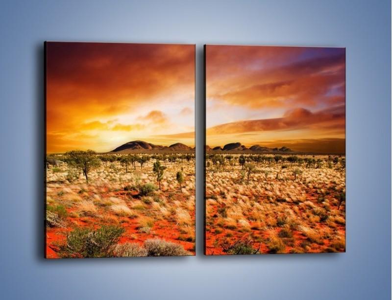 Obraz na płótnie – Oaza w kolorach ognistej ziemi – dwuczęściowy prostokątny pionowy KN192