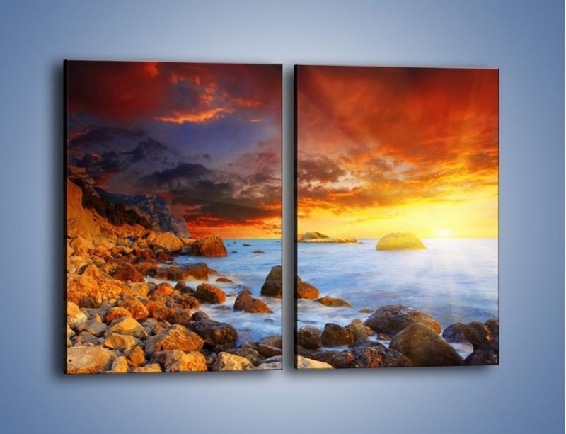 Obraz na płótnie – Słońce odbite w kamieniach – dwuczęściowy prostokątny pionowy KN267