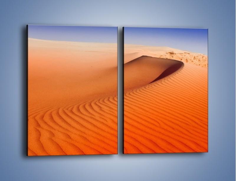 Obraz na płótnie – Pustynny żar – dwuczęściowy prostokątny pionowy KN305