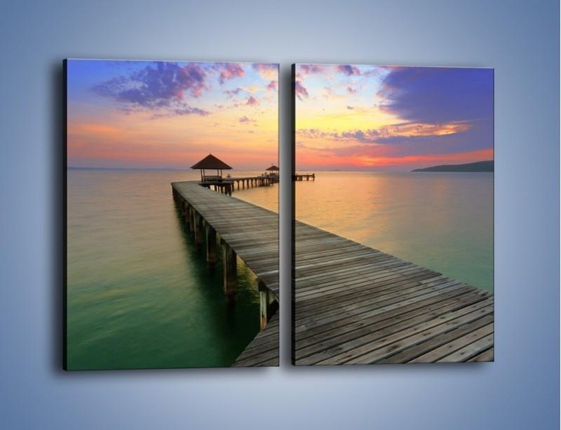 Obraz na płótnie – Krętym pomostem do morza – dwuczęściowy prostokątny pionowy KN327