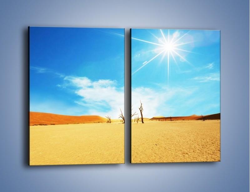 Obraz na płótnie – Błękit nieba i słońce w ziemi – dwuczęściowy prostokątny pionowy KN331
