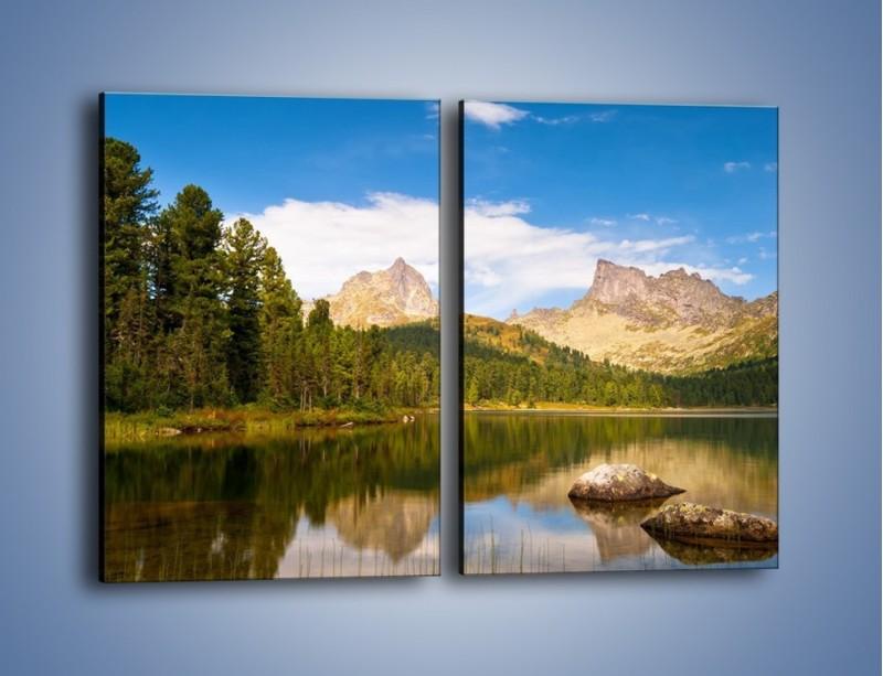 Obraz na płótnie – Widok nie tylko na góry – dwuczęściowy prostokątny pionowy KN401