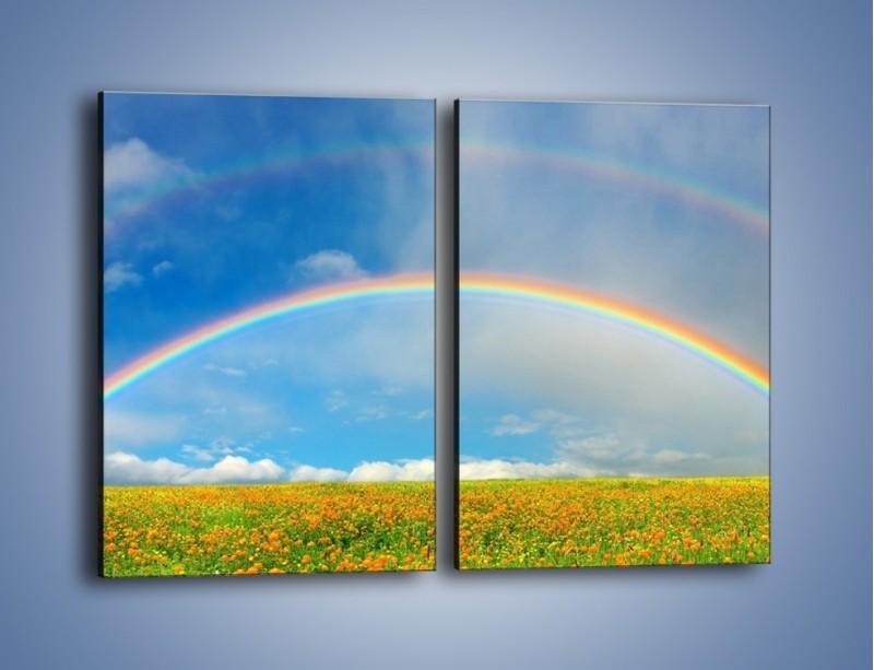 Obraz na płótnie – Urok kolorowej tęczy – dwuczęściowy prostokątny pionowy KN406