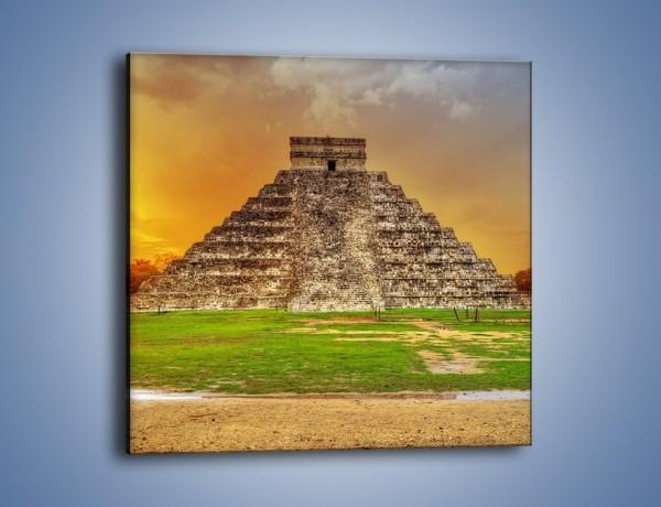 Obraz na płótnie – Piramida Kukulkana w Meksyku – jednoczęściowy kwadratowy AM814