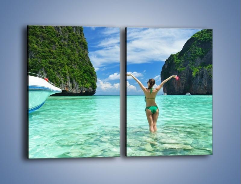 Obraz na płótnie – Udane wakacje w ciepłych krajach – dwuczęściowy prostokątny pionowy KN530
