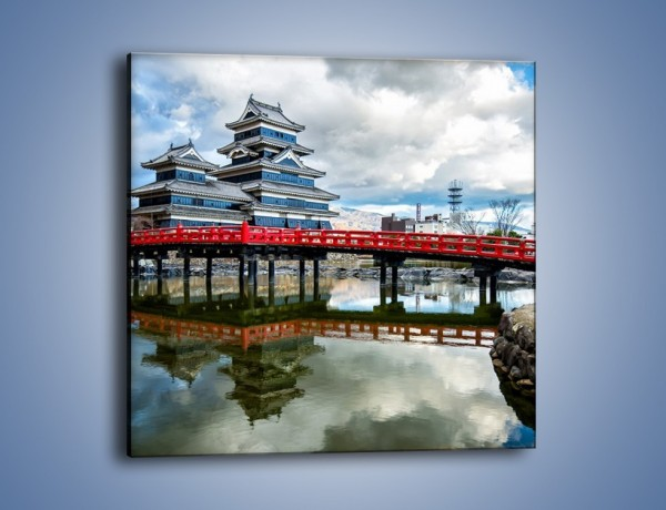 Obraz na płótnie – Zamek Matsumoto w Japonii – jednoczęściowy kwadratowy AM817