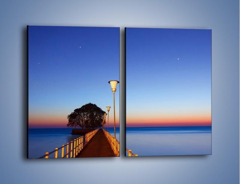 Obraz na płótnie – Wieczorny spacer po tafli morza – dwuczęściowy prostokątny pionowy KN759