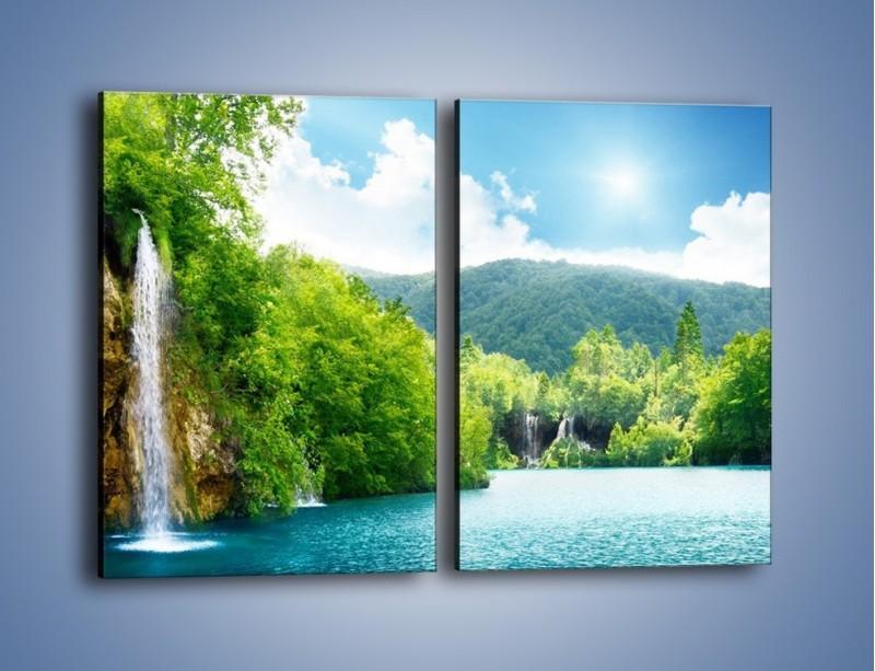 Obraz na płótnie – Cały urok górskich wodospadów – dwuczęściowy prostokątny pionowy KN769