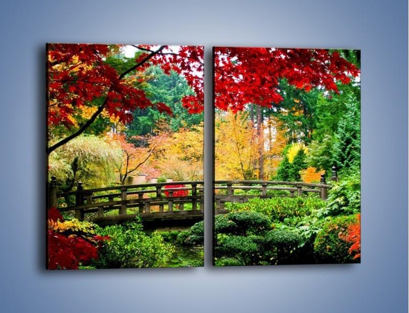 Obraz na płótnie – Mostem do roślinnego raju – dwuczęściowy prostokątny pionowy KN782