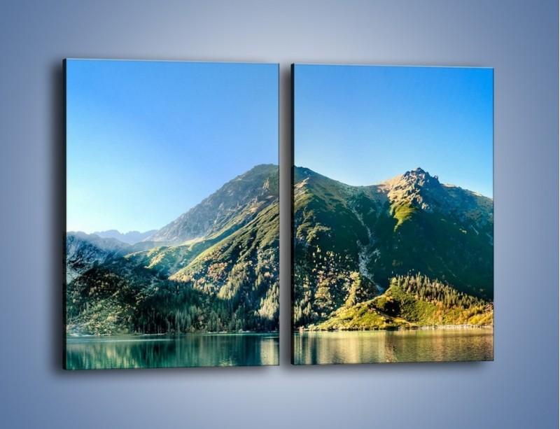 Obraz na płótnie – Chłodny klimat górski – dwuczęściowy prostokątny pionowy KN844