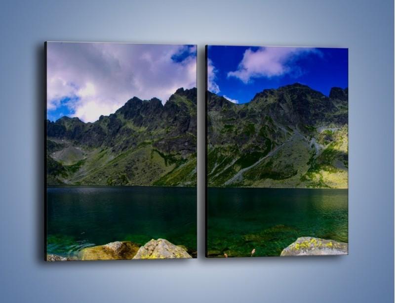 Obraz na płótnie – Horyzont górskich szczytów – dwuczęściowy prostokątny pionowy KN856