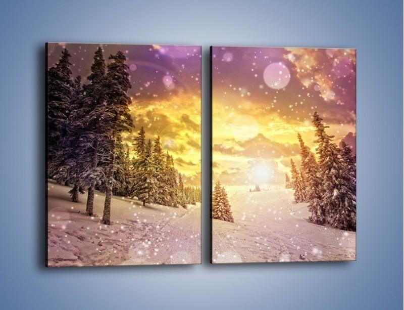 Obraz na płótnie – Śnieżna kraina – dwuczęściowy prostokątny pionowy KN868