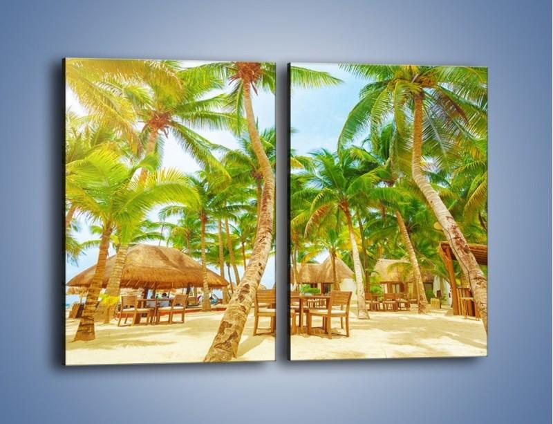 Obraz na płótnie – Słoneczna sjesta pod palmami – dwuczęściowy prostokątny pionowy KN886