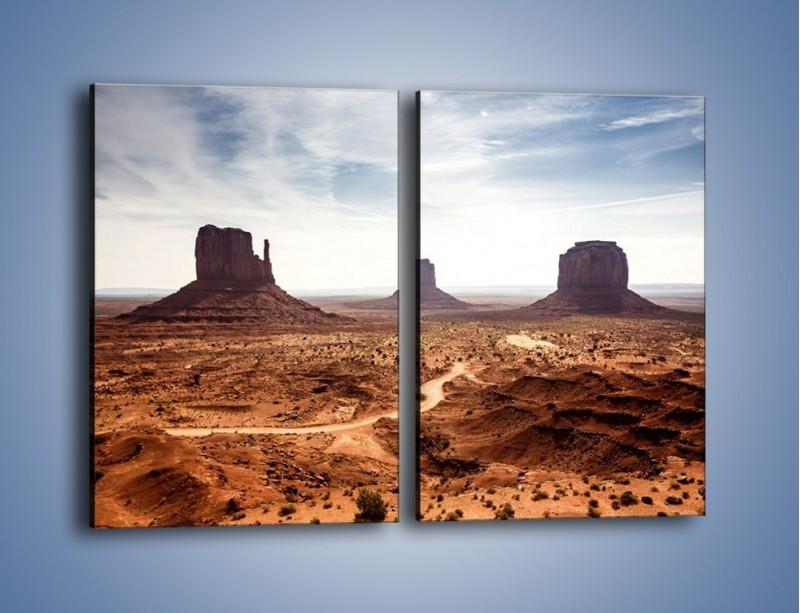 Obraz na płótnie – Spragniona ziemia skąpana w słońcu – dwuczęściowy prostokątny pionowy KN943