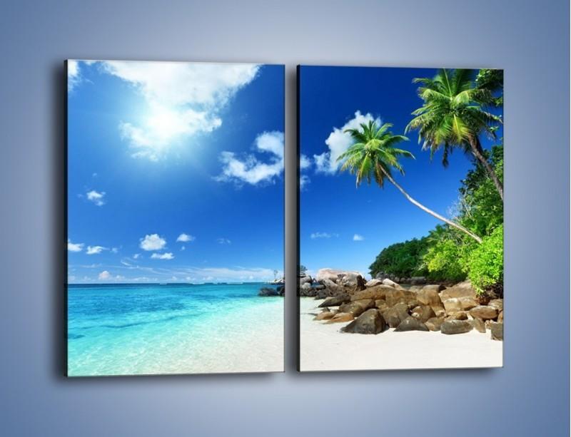 Obraz na płótnie – Rajska plaża i jej piękno – dwuczęściowy prostokątny pionowy KN963