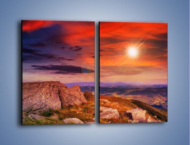 Obraz na płótnie – Widok ze szczytu – dwuczęściowy prostokątny pionowy KN970