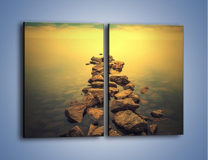 Obraz na płótnie – Zatopiona droga – dwuczęściowy prostokątny pionowy KN974