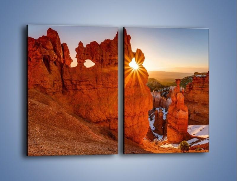 Obraz na płótnie – Przez słoneczne okulary – dwuczęściowy prostokątny pionowy KN991