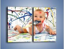 Obraz na płótnie – Chodź pomaluj mój świat – dwuczęściowy prostokątny pionowy L059