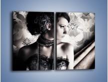 Obraz na płótnie – Czarny kobiecy charakter – dwuczęściowy prostokątny pionowy L095