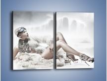 Obraz na płótnie – Biel i jego bogactwo – dwuczęściowy prostokątny pionowy L100