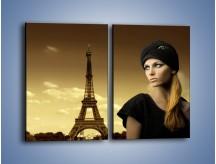 Obraz na płótnie – Czarna dama w paryżu – dwuczęściowy prostokątny pionowy L114
