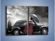 Obraz na płótnie – Dama pod parasolem – dwuczęściowy prostokątny pionowy L139