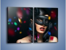 Obraz na płótnie – Bal w czarnych maskach – dwuczęściowy prostokątny pionowy L177