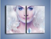 Obraz na płótnie – Biało-śnieżna dama – dwuczęściowy prostokątny pionowy L189