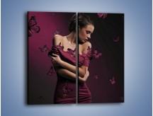 Obraz na płótnie – Delikatna krucha kobieca – dwuczęściowy prostokątny pionowy L215