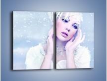 Obraz na płótnie – Delikatna królowa śniegu – dwuczęściowy prostokątny pionowy L224