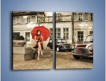 Obraz na płótnie – Damski świat z dodatkiem czerwonego – dwuczęściowy prostokątny pionowy L242