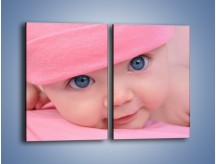 Obraz na płótnie – Bobas w różowej czapeczce – dwuczęściowy prostokątny pionowy L256