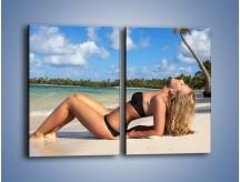 Obraz na płótnie – Czas rajskich plaży – dwuczęściowy prostokątny pionowy L316