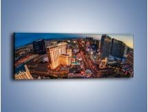 Obraz na płótnie – Centrum Las Vegas – jednoczęściowy panoramiczny AM588