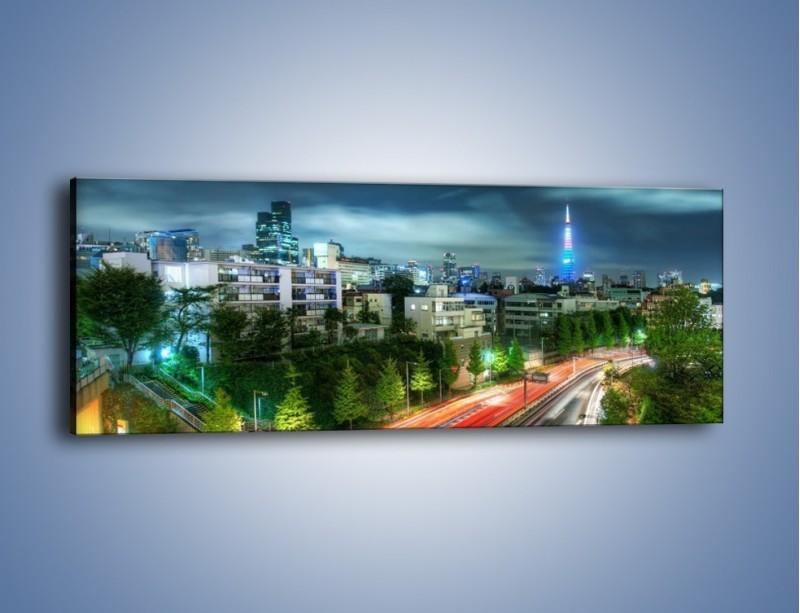 Obraz na płótnie – Miasto Roppongi w Japonii – jednoczęściowy panoramiczny AM593