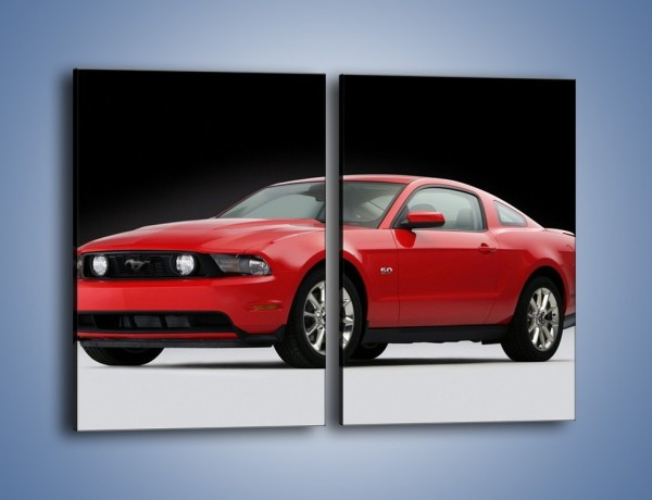 Obraz na płótnie – Czerwony Ford Mustang GT – dwuczęściowy prostokątny pionowy TM052