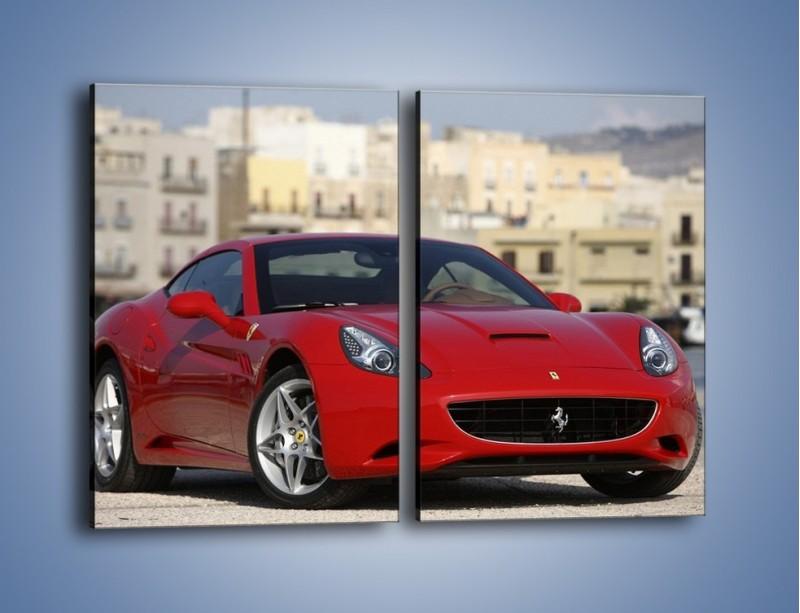 Obraz na płótnie – Czerwone Ferrari California – dwuczęściowy prostokątny pionowy TM057