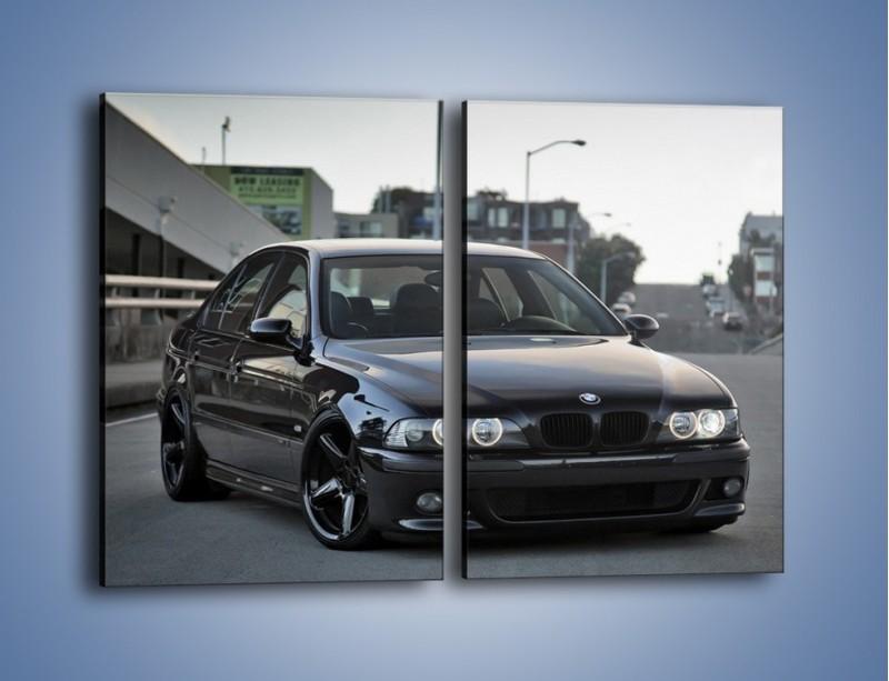 Obraz na płótnie – Czarne BMW E39 M5 – dwuczęściowy prostokątny pionowy TM072