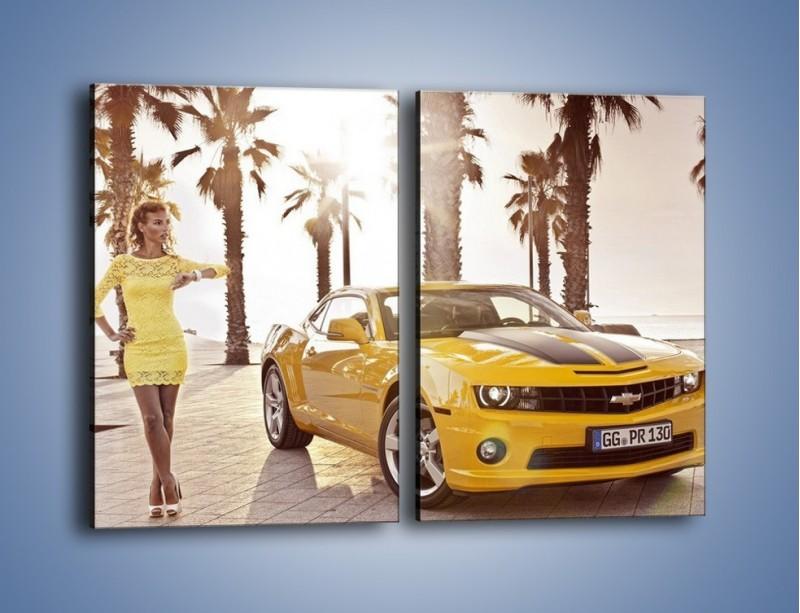 Obraz na płótnie – Chevrolet Camaro Coupe Europe – dwuczęściowy prostokątny pionowy TM083