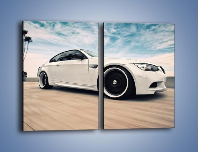 Obraz na płótnie – BMW M3 Strasse Forged Wheels – dwuczęściowy prostokątny pionowy TM094