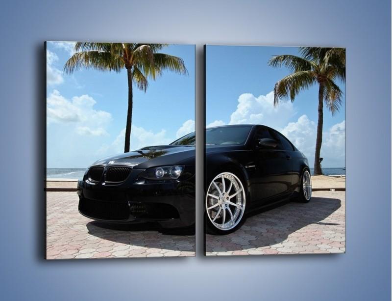 Obraz na płótnie – BMW M3 GTS – dwuczęściowy prostokątny pionowy TM095