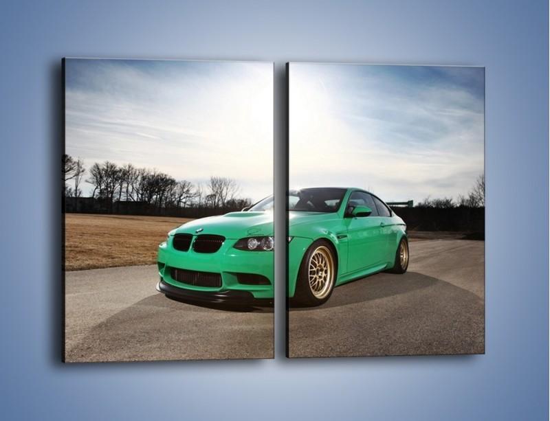 Obraz na płótnie – BMW E92 M3 Tuning – dwuczęściowy prostokątny pionowy TM108